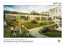 Geladener Wettbewerb Erweiterung Kindergarten IST AUTRIA 1.Rang | 2016-Bildquelle: © ARGE Arch.Urban | Seehofer u. Partner ZT KG